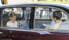 Support: The Queen was joined by Sophie Wessex, 50, and Princess Anne, 64, for the occasio...