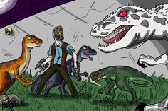Jurassic World (Starlord VS Diabolus Rex) by GingerBaribuu.deviantart.com on @DeviantArt