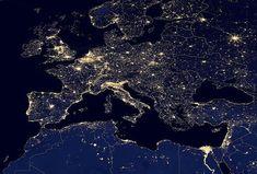 earth at night nasa