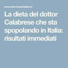 La dieta del dottor Calabrese che sta spopolando in Italia: risultati immediati