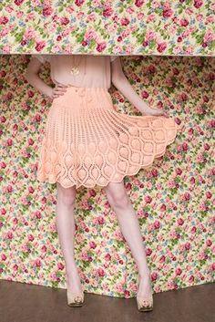 Pineapples make fabulous crochet skirts. Pineapple Skirt lace