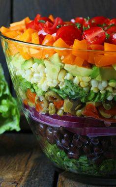 Beautiful Seven Layer Salad!!