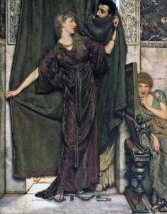 Sir Lawrence Alma-Tadema ~ My Sister is Not In (1879)