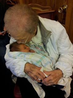 A baby and her Great Great Grandmother, born on the same exact day but 98 years apart. :)