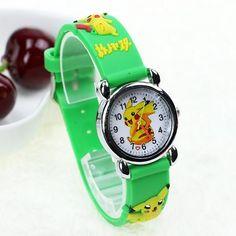 JOYROX Pokemon Pattern Children Sports Watch 2017 Hot Cartoon Rubber Strap Quartz Wristwatch Fashion Girls Boys Kids Clock