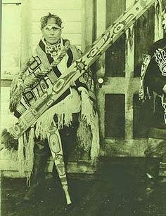 TLINGIT MAN , circa 1912 Haida Gwaii, Haida Art, Tlingit, Tribal Dress, Native American Art, First Nations, Indian Art, Pacific Northwest, Traditional Dresses