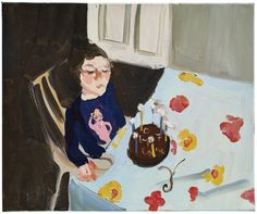 Chantal Joffe ''Esme's 7th birthday,'' an oil painting based on a photograph that the London-based artist saw as a poignant reminder of her daughter's solitude as an only child.