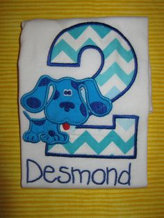 Blues Clues Themed Personalized second by SoBelleCreations