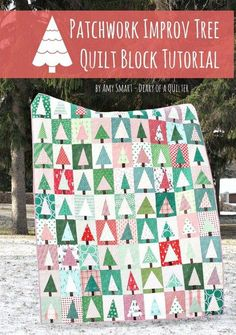 Modern Improv Patchwork Trees - Free Quilt Tutorial