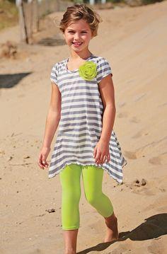 From CWDkids: Stripe Swing Top & Cropped Leggings.