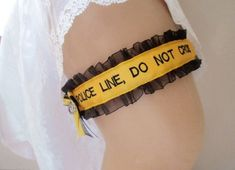 Police Wedding Garter - Police Line Do Not Cross - Personalized Garter – Creative Garters