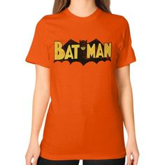 Vintage Batman Logo Unisex T-Shirt (on woman)
