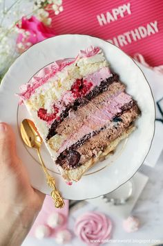My space, my world. Ana Mari's world.: Tort malinowo-czekoladowy z różami bezowymi Polish Recipes, Mini Cakes, Beautiful Cakes, I Foods, Vanilla Cake, Baked Goods, Cake Decorating, Easy Meals, Food And Drink