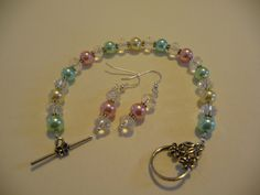 multi-colored pearls and crystals