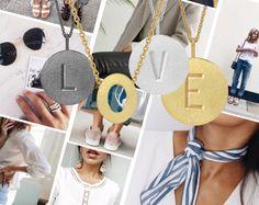 Styling by felden showing Letter Pendant L Grey Rhodium, Initial Letter Pendant O Gold, Letter Pendant V Silver and Letter Pendant E Gold #jewellery #Jewelry #bangles #amulet #dogtag #medallion #choker #charms #Pendant #Earring #EarringBackPeace #EarJacket #EarSticks #Necklace #Earcuff #Bracelet #Minimal #minimalistic #ContemporaryJewellery #zirkonia #Gemstone #JewelleryStone #JewelleryDesign #CreativeJewellery #OxidizedJewellery #gold #silver #rosegold #hoops #armcuff #jewls…