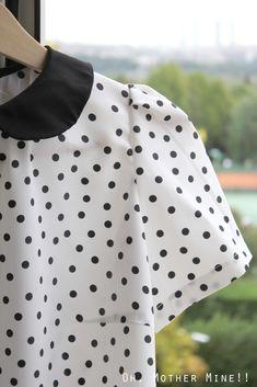 Blog costura y diy: Oh, Mother Mine DIY!!: Cómo hacer camiseta de lunares o dots y cuello Peter Pan