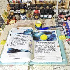 """""""20150926-27手帳 亂弄了一個月亮~應ㄧ下中秋節~"""""""