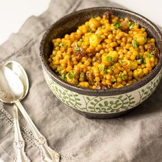 Curried Israeli Couscous — flavor & flora - http://www ...