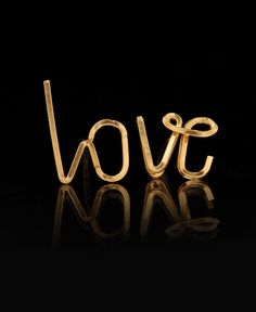 By Philippe Gold Filled Love Stud Earrings