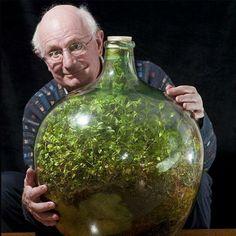 密封されたままで40年以上生き続ける、外界と途絶した瓶詰めの自給自足生態系   BUZZAP!(バザップ!)