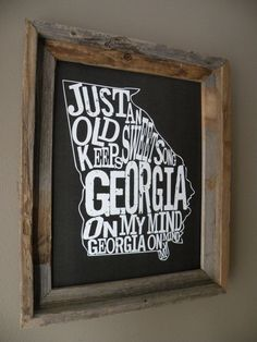 Black Georgia On My Mind Map Print by fortheloveofmaps on Etsy, $22.00