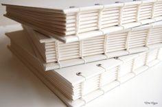 handmade bound journals #white #journals #stationery