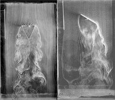 Etienne-Jules Marey 1830-1904 Photographs of smoke in a wind tunnel 1901  Cinémathèque Française