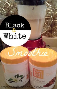 Hi everyone. Day 2 of my detox I made this fun smoothie.     Black and White Smoothie Recipe 1 scoop Shaklee 180 smoothie mix in Vanilla 1 scoop Shaklee 180 smoothie mix in Chocolate 8 oz...