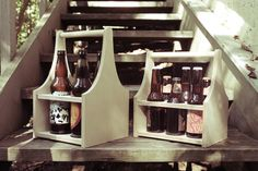 Reusable beer caddy from http://sixnsticks.com/