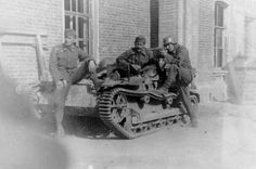 Hungarian soldiers on captured french tankette