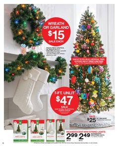 Target - Sale starts November 17, 2013- November 23, 2013 November 23, String Lights, Greenery, Garland, Christmas Tree, Joy, Wreaths, Holiday Decor, Mini