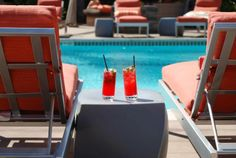 Cocktails by the pool. A match made in heaven! #cocktails #SanDiego