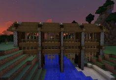 Minecraft building ideas for happy gaming 39 Minecraft City, Construction Minecraft, Minecraft Bridges, Minecraft Building Guide, Minecraft Structures, Minecraft Plans, Amazing Minecraft, Minecraft Survival, Minecraft Tutorial