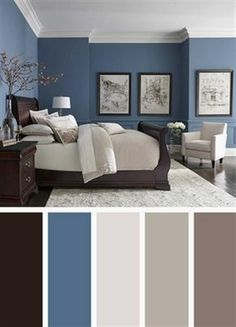 dark blue bedroom walls dark blue bedroom color schemes light blue and gray bedroom luxurious bedroom color scheme ideas dark dark blue bedroom dark blue walls decorating Room Color Ideas Bedroom, Best Bedroom Colors, Bedroom Color Schemes, Home Color Schemes, Bright Bedroom Colors, Relaxing Bedroom Colors, Interior Color Schemes, Paint Ideas For Bedroom, Colors For Bedrooms
