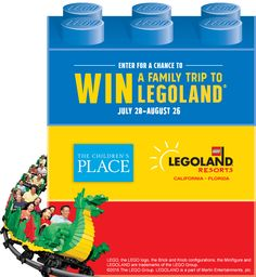 Enter for your chance to WIN a Family Trip to LEGOLAND® worth over $5,000! The trip for four includes hotel, airfare and so much more... check it out! Promotion ends August 26, 2015.