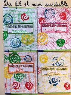 Du fil et mon cartable : Couverture cahier