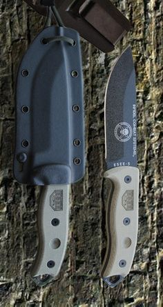 Legendary Reliability ESEE Knives ESEE-5P Black Plain Edge Fixed Survival Utility Fixed Knife Blade, Black Sheath