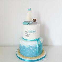 Christening cake, Baptism cake, ship, Teddy, teddybear, Anchor, Anker, Taufe, Torte