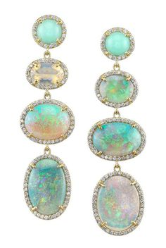 Irene Neuwirth opal and diamond earrings, gorgeous...maybe I can stop looking now, I think these might be perfect :)