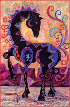 [LRS Animals In Art] Nancy Glenn Nieto, Desert Horse