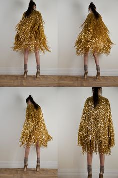gold fringe cape // this would be amazing for NYE