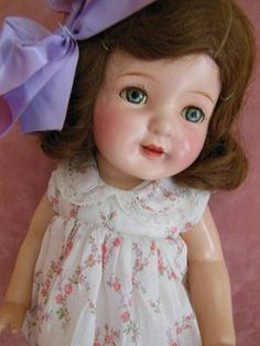 Antique Composition Tin Eye Arranbee R B Nancy Doll All Original Clothing