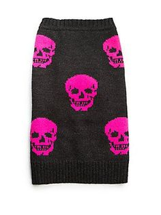 360 Cashmere Luther Mini Skull Dog Sweater