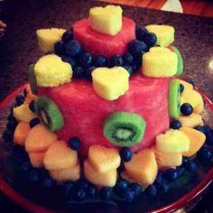 Fun Desserts: Watermelon Fruit Cake!!!