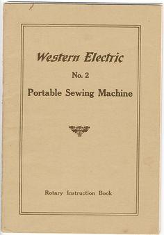 National Sewing Machine (Western Electric) Manual