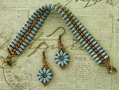 """Linda's Crafty Inspirations: Earrings to go with the """"Mystery SuperDuo Bracelet"""""""