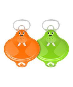 Look at this #zulilyfind! Orange & Green Small Walrooz Connectable Sled Set #zulilyfinds
