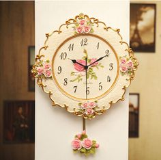 cheap wall clock rose buy quality fashion wall clocks directly from china wall clock suppliers european rural character contracted wall clock roses