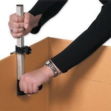 cardboard box reducing tool for making shipping packages smaller easier