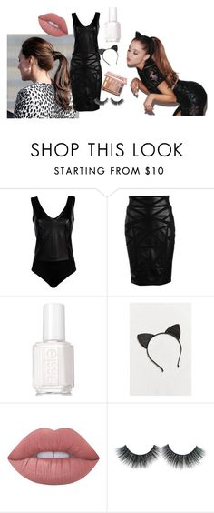 """""""Get the look - Ariana Grande"""" by jamroxoxo on Polyvore featuring moda, Luxury Fashion, Versace, Essie, Urban Outfitters, Lime Crime i Urban Decay"""